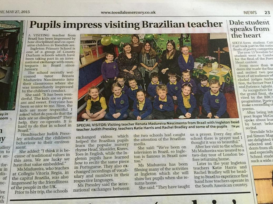 Jornal britânico: Teesdale Mercury