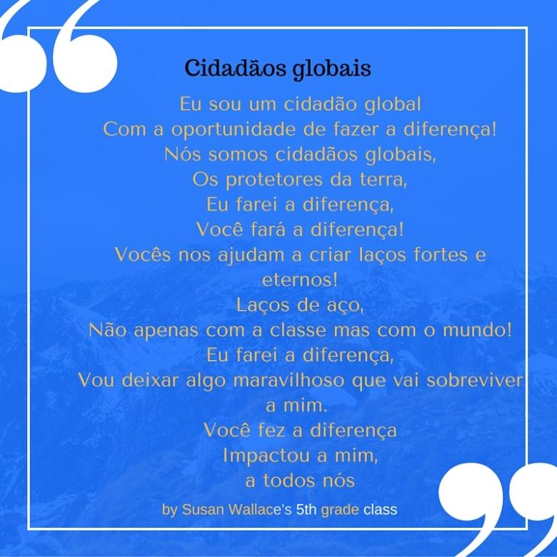 poema sobre o que é ser um cidadão global