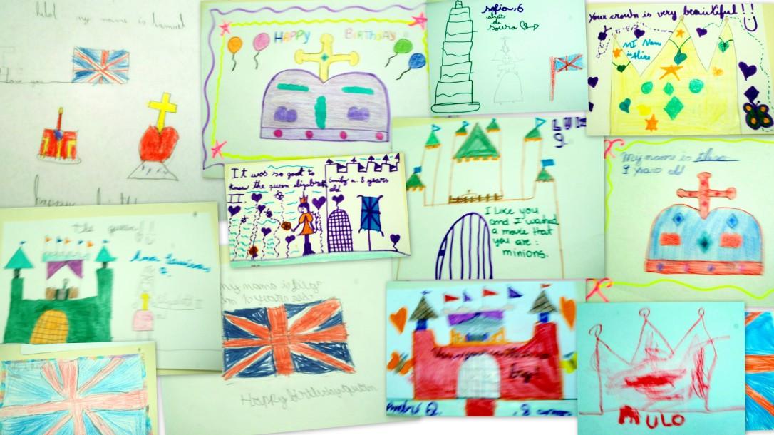 Desenhos de alunos do Vitória Régia